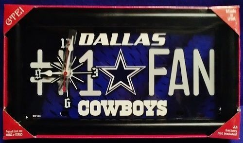 Official  Dallas Cowboys License Plate Wall Clock #Northwest #DallasCowboys