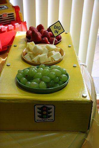 stop light fruit for transportation party