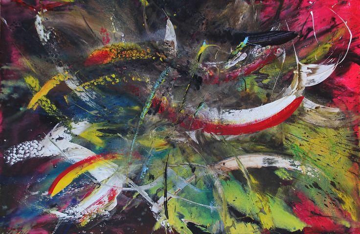 Acrylic on canvas 1:80 mt x 1:20 mt.  Gustavo A. Villegas H  guscausaefecto@gmail Cel: (57)  313 432 7154 Fijo: 460 12 45