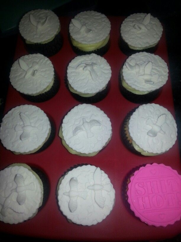 Archie's christening cupcakes.