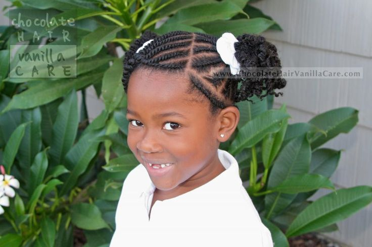 Flat Rope Twists Into Two Puffs: School Picture Hairstyle 2013 #NaturalHair #Hairstyle | Chocolate Hair / Vanilla Care