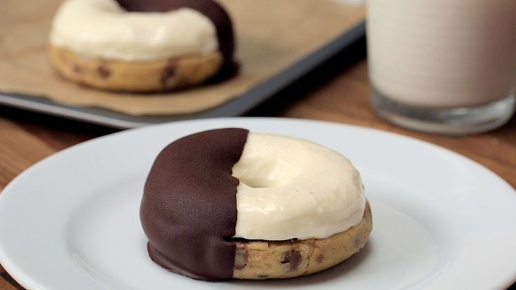 Cookie Dough Cheesecake Donuts - Twisted