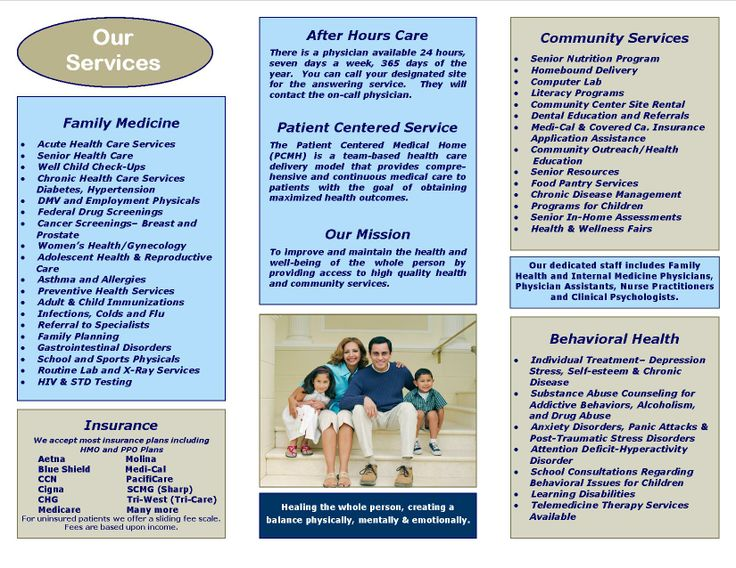 Check out our new #brochure! #health #services #clinics About Us - services brochure