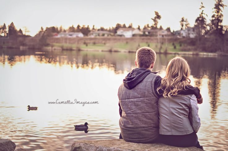 Brother Sister Portrait, Sunset at Lake Wapato (Camellia, meet Baby: Meet the Long Family! ~ Tacoma Family Photographer)