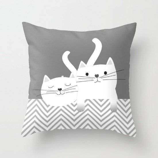 Cats Throw Pillow Kittens Personalized small medium by Narais