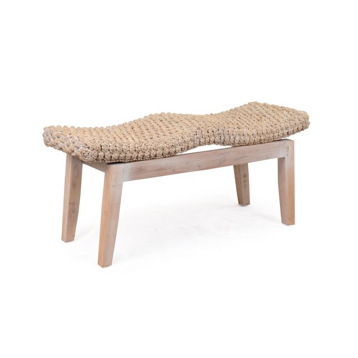 The Sanibel Double Bench features hand crafted Legs from teak wood with a comfortable and stylish seating arrangment for two.