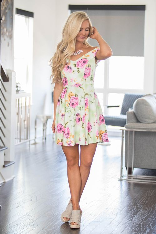 My Delicate Darling Floral Dress - The Pink Lily