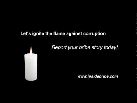 """""""Poster Lagao Corruption Hatao"""" - Report your bribe story today!"""