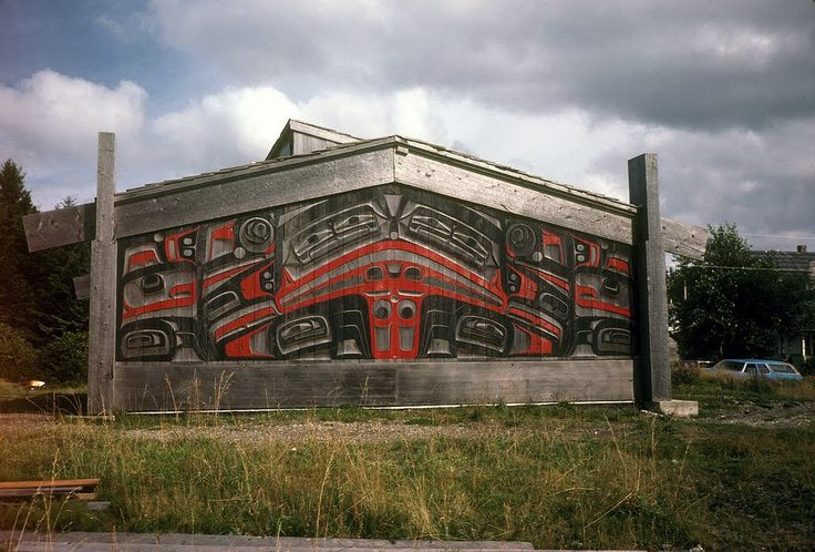 Longhouse, Haida, Queen Charlotte Islands, B C. 1980