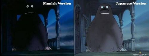Here's the reason why Finnish kids are so traumatized over The Groke from The Moomins. Apparently The Moomin tapes that were sent to Finland from Japan had the wrong color profile in them. The colors were much darker than intended. Finnish TV decided...