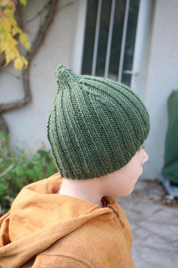 Bonnet vert enfant garçon