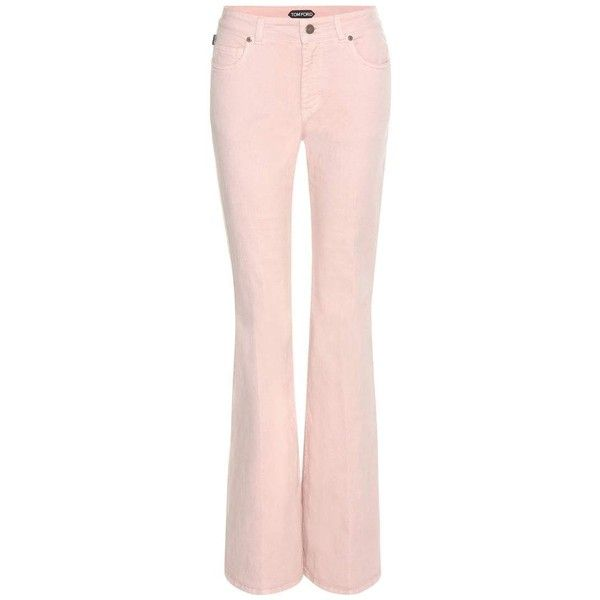 Tom Ford Flared Jeans (56.400 RUB) ❤ liked on Polyvore featuring jeans, pants, pink, tom ford, pink jeans, tom ford jeans, flared jeans and flare jeans