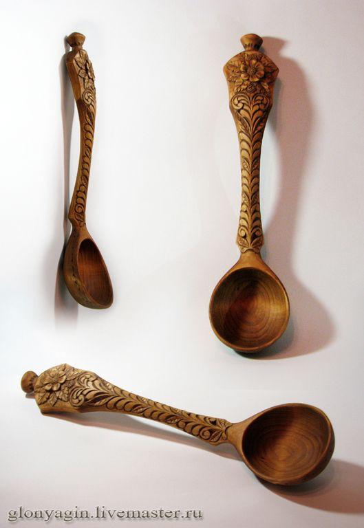 Купить Черпак (ложка) деревянный Ромашка - купить ложки, деревянные ложки, Деревянная посуда