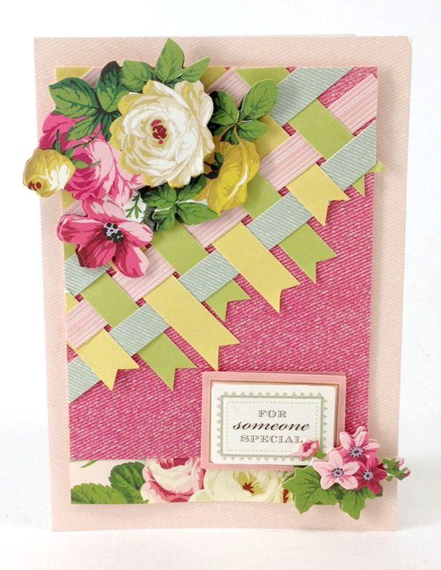 woven papers on card