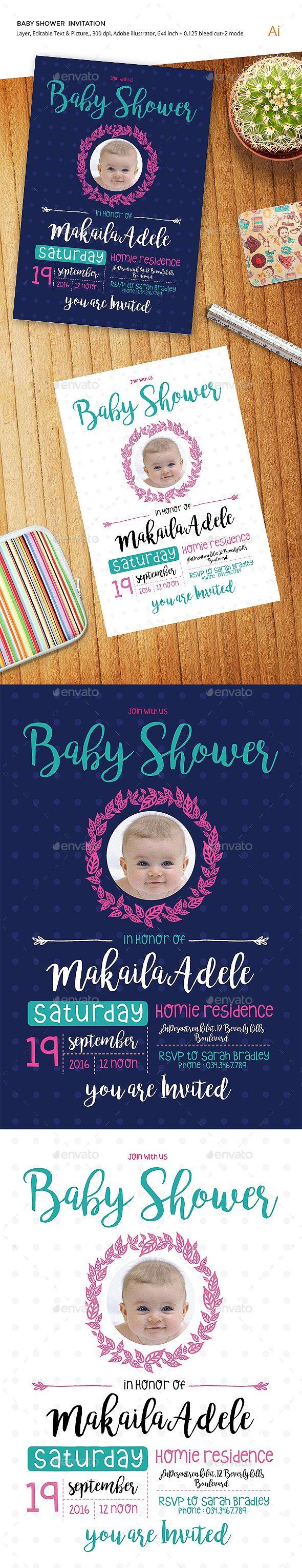 Baby Shower Invitation 672 best Invitation Template