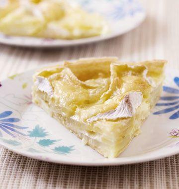 Tarte au camembert et pommes de terre - Recettes de cuisine Ôdélices