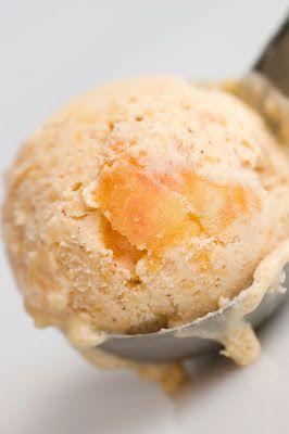 Buttermilk Peach Ice ream with Cinnamon from Sugar & Spice by Celeste