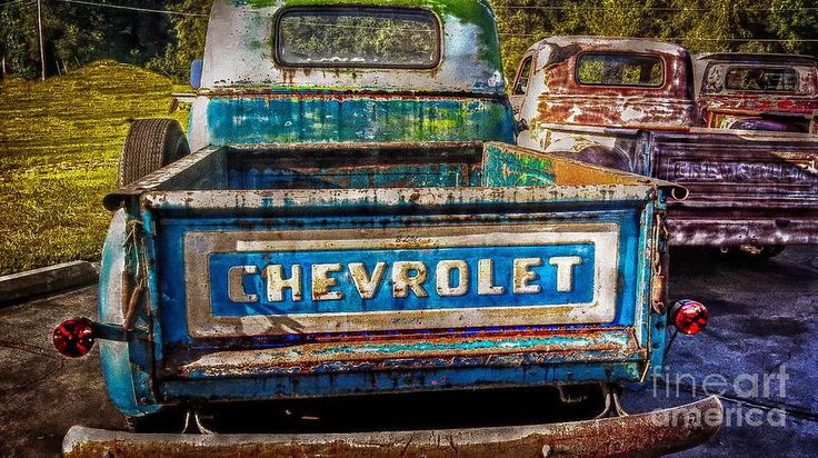 Fine art of a chevy