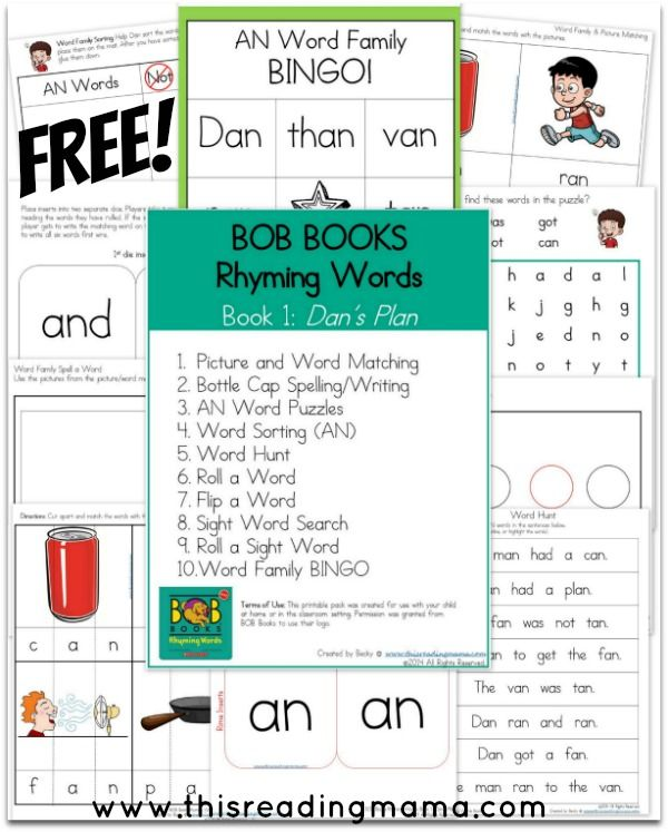 14 best Bob Books Rhyming Words images on Pinterest Bob books - free book writing templates for word