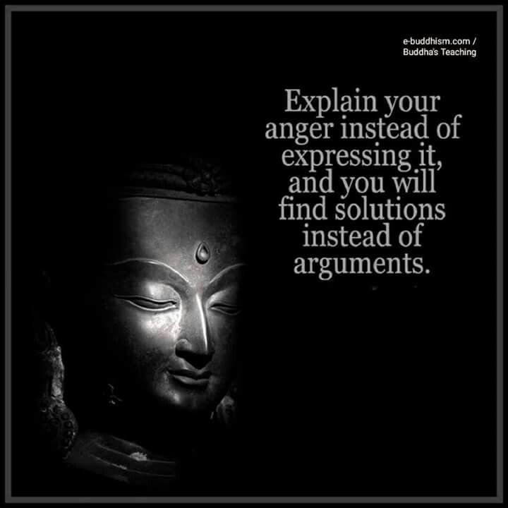 Explain your anger instead of expressing it. You will find solutions instead of arguments.