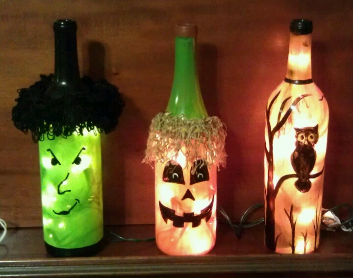 Decorative Wine Bottles Lights Magnificent 55 Best Wine Bottle Lights Images On Pinterest  Decorated Bottles Decorating Inspiration