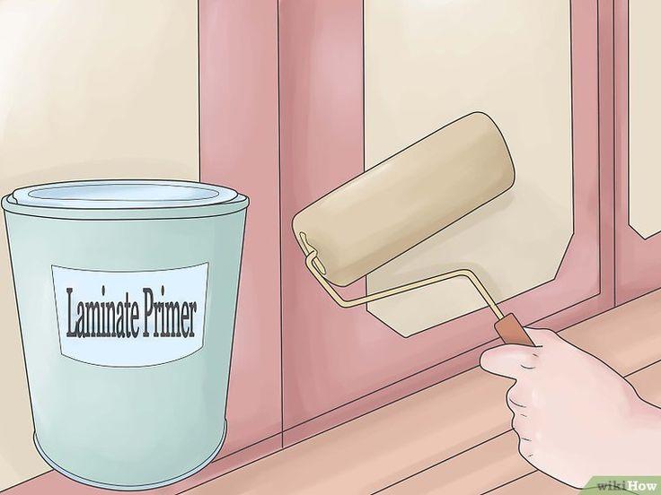 Cómo pintar gabinetes laminados: 7 pasos (con fotos)