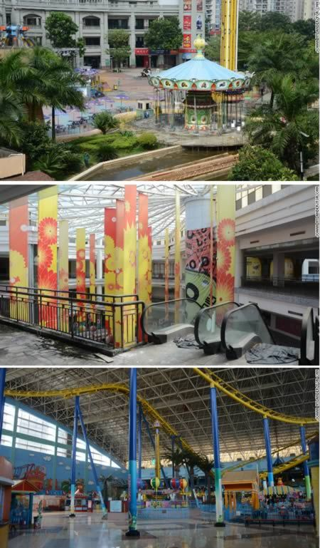World's biggest abandoned mall (China/Guangdong) With online shopping all malls may look like this www.lalolionlineshopping.com