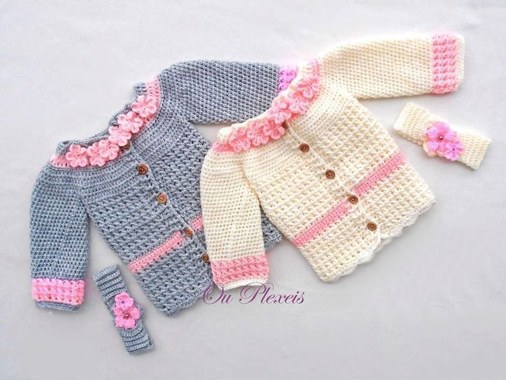 Crochet Pattern Baby Girl Cardigan : Crochet baby girl cardigan, baby sweater, crochet baby ...