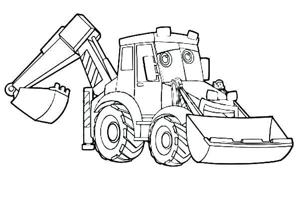 16 Free Printable Colouring Pages Digger