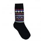 Loco Pattern Socks - Black http://www.lafitte.com.au/shop-socks/pattern-socks/Loco-Pattern-Socks-Snow-Black