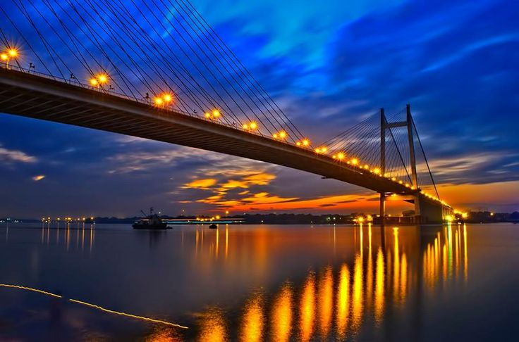 1471380_10152043489579222_1874669459_n - Second Hoogly Bridge — at Vidyasagar Setu.