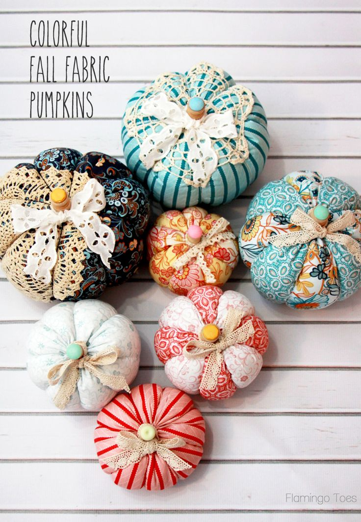 Easy Fall Fabric Pumpkins - these are so cute!