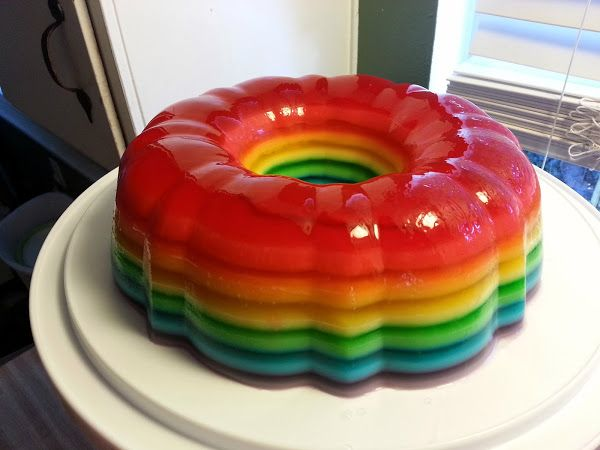 ... : Cake Recipe, Jello Shot Cake, Cakes, Rainbows, Rainbow Jello Shots