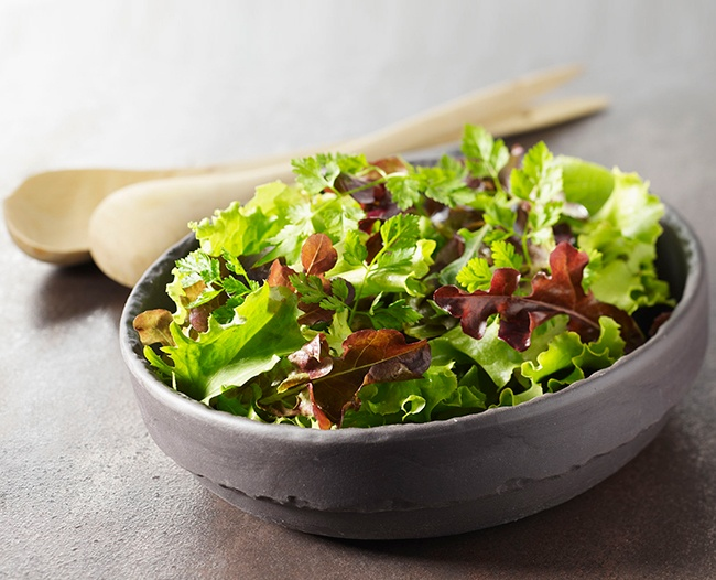 Revol Basalt Individual Bowl - Great contrast for a salad.