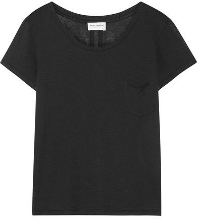 Saint Laurent - Cotton-jersey T-shirt - Black