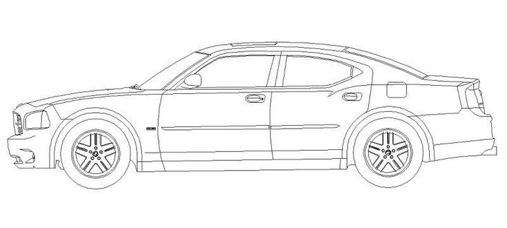 Dibujo CAD Mercedes Benz en alzado lateral