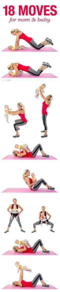 Fit bleiben trotz Baby? Ein paar Anregungen für tolle Sportübungen, die man zuhause gemeinsam machen kann!