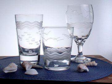 Seabreeze Iced Tea 12oz Set of 4 - beach-style - Everyday Glassware - Rolf Glass
