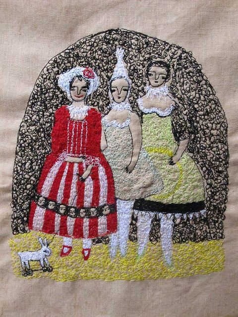 """Circus Dreamers"" embroidery by Cathy Cullis"