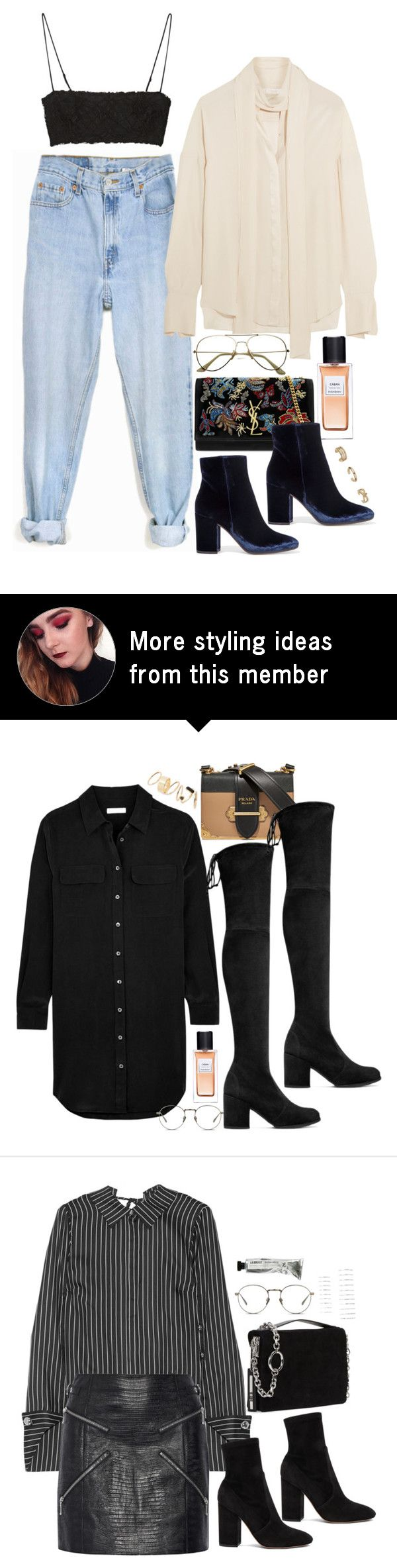 """NYFW Style Inspo"" by samikayy76 on Polyvore featuring Levi's, Gianvito Rossi, Yves Saint Laurent, Topshop, Alexander McQueen and ADAM"