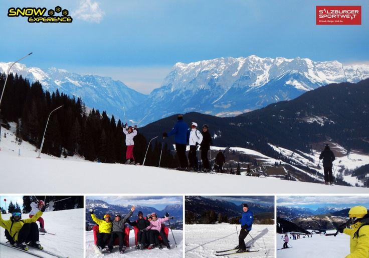 Flachau, Alpendorf, Wagrain, St. Johann im Pongau. Weer een prachtige route welke nu zelfs prima verbonden is met een gondel over Wagrain heen! Snow Experience Kerst safari 2013.