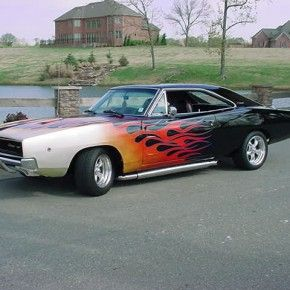 Flamed Dodge Charger