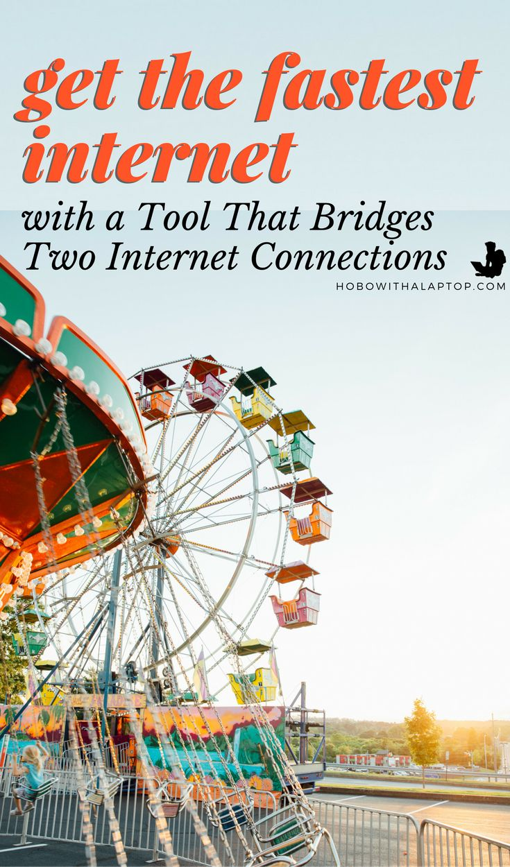 Travelers and digital nomads have a love/hate relationship with the internet, here's 2 ways to speed up wireless internet, wherever you are. Combine two WiFi connections, or mobile data and WiFi.