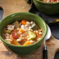 Slow Cooker Vegetarian Recipes - spinach and white bean soup