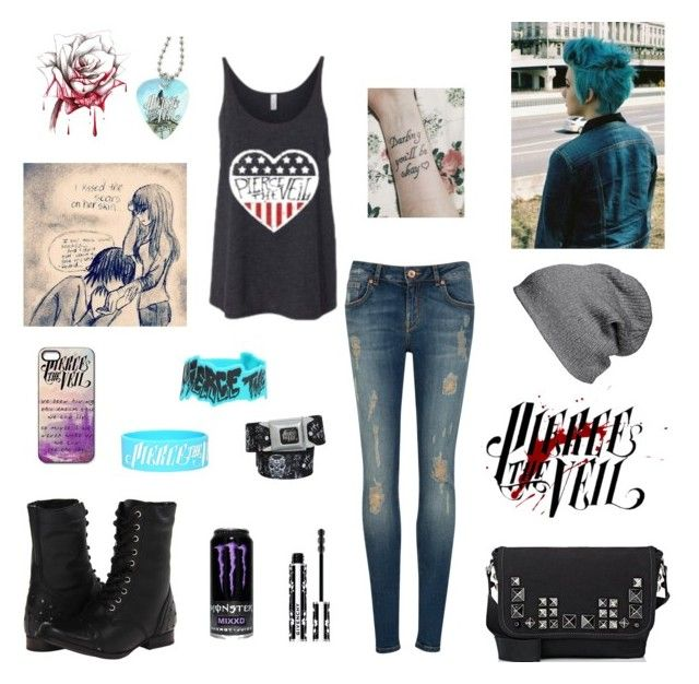 """""""pierce the veil"""" by i-am-a-ghost ❤ liked on Polyvore featuring Ted Baker, Marc Jacobs, Givenchy, Naughty Monkey and BP."""