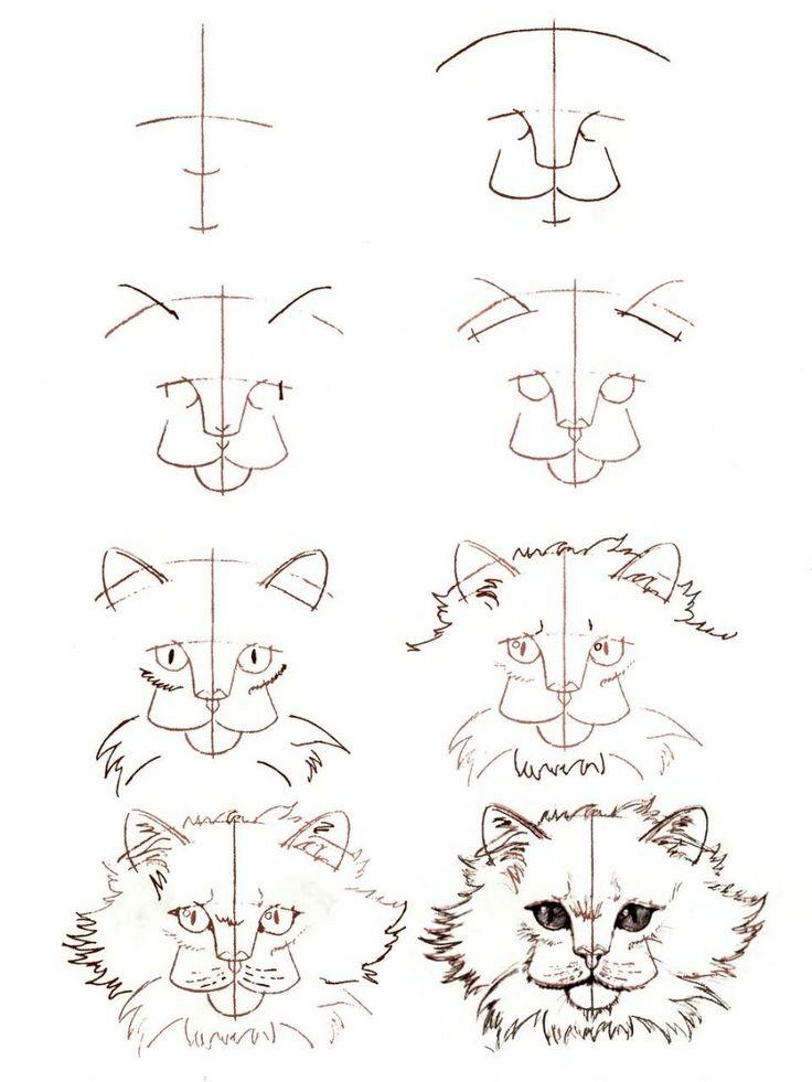 Смешные животные рисовать поэтапно