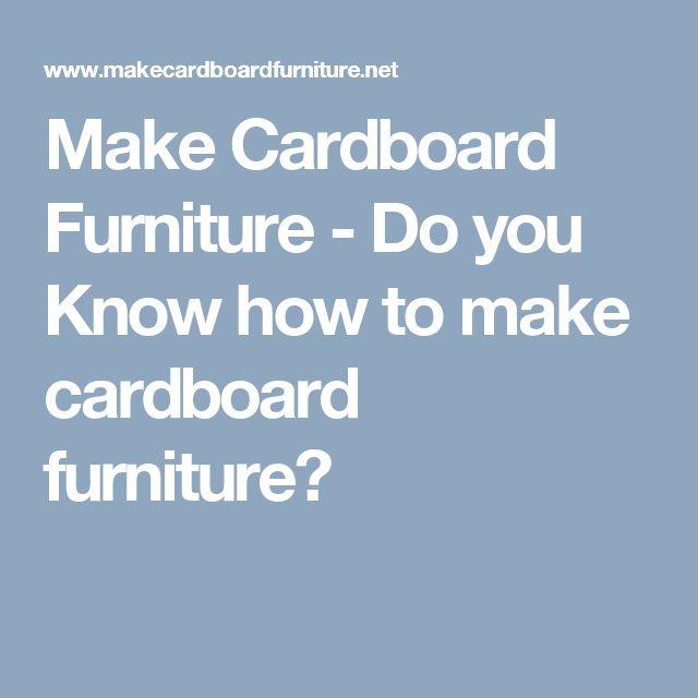 1000 Ideas About Cardboard Furniture On Pinterest Cardboard Chair Diy Cardboard And