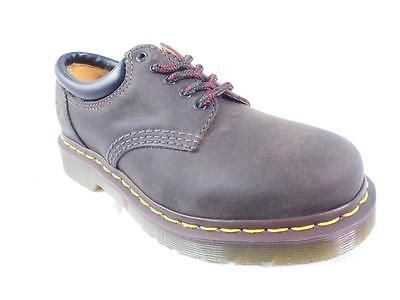 DR MARTENS 8053 GAUCHO CRAZY HORSE BROWN GREASY LEATHER PADDED COLLAR 5 EYE UK 3