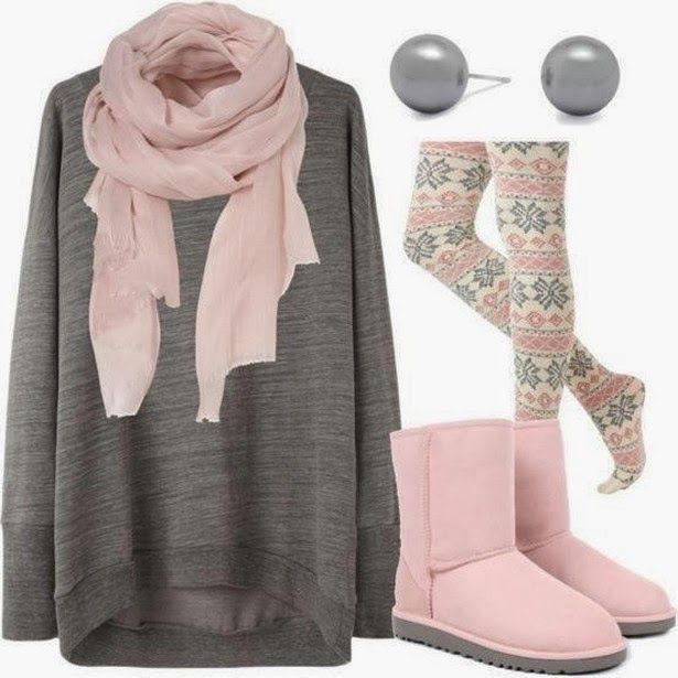 Farb-und Stilberatung mit www.farben-reich.com - Comfy grey and pink outfit for fall fashion