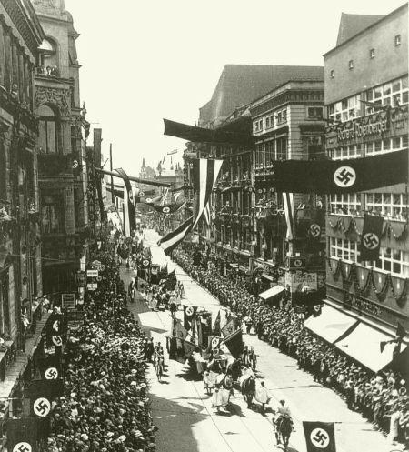 Nazistowski Festzug, ulica Świdnicka,